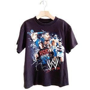 WWE Boy's Wrestling Graphic Shirt Sleeved Shirt M